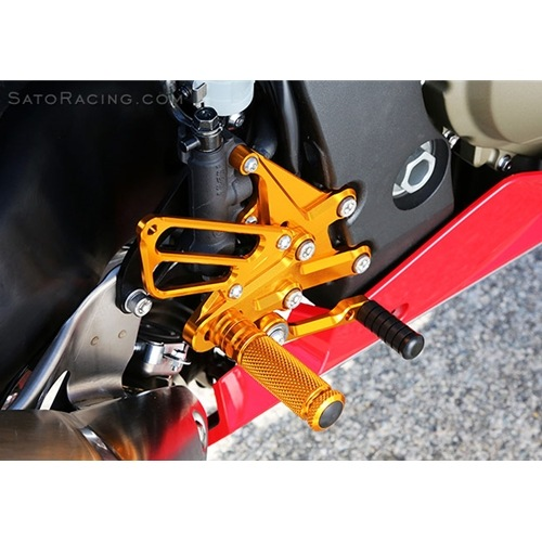 Sato Racing Rear Sets - #H-CBR117RS-GD CBR1000RR 17-18 Gold Anodized