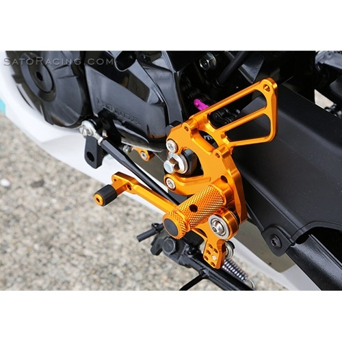 Sato Racing Rear Sets - #H-GROM16RCRS-GD Grom 16-18 Race Concept Reverse Pattern Gold Anodized ONLY