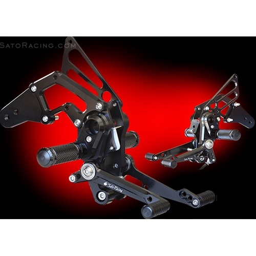 Sato Racing Rear Sets - #H-GROM16RS-BK Grom 16-18 Black Anodized