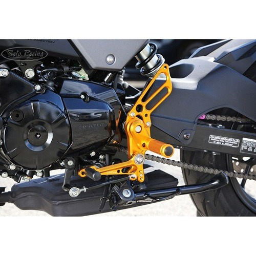 Sato Racing Rear Sets - #H-GROM16RS-GD Grom 16-18 Gold Anodized