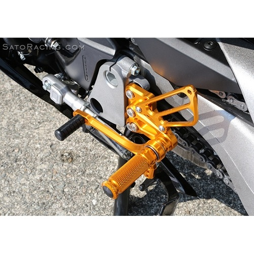 Sato Racing Rear Sets - #H-VFR814RS-GD VFR800F/Interceptor ABS 14-18 Gold Anodized