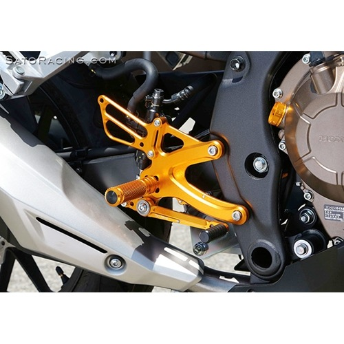 Sato Racing Rear Sets - #H-CBR513RS-GD CBR400R/CBR500RCB400F/CB500F 13-18 Rear Sets Gold