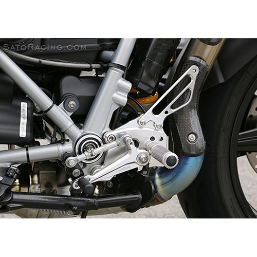 Sato Racing Rear Sets - #BMW-R9TRARS-BK R Nine T Racer 17-18 Black Anodized