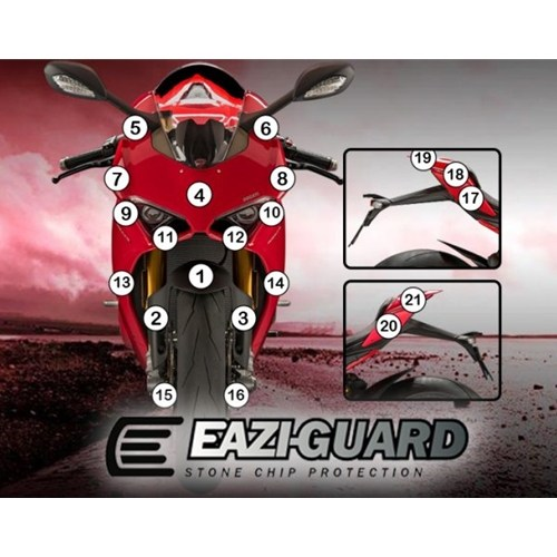 Motorcycle paint protection kit