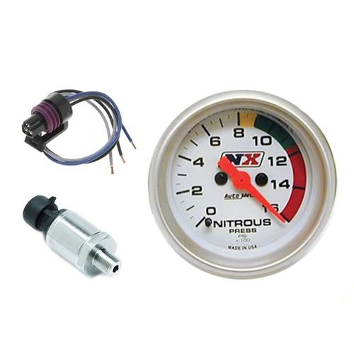 "NX Remote Pressure Gauge - #15531 2 1/16"" Remote Electronic Nitrous Gauge with Sensor"