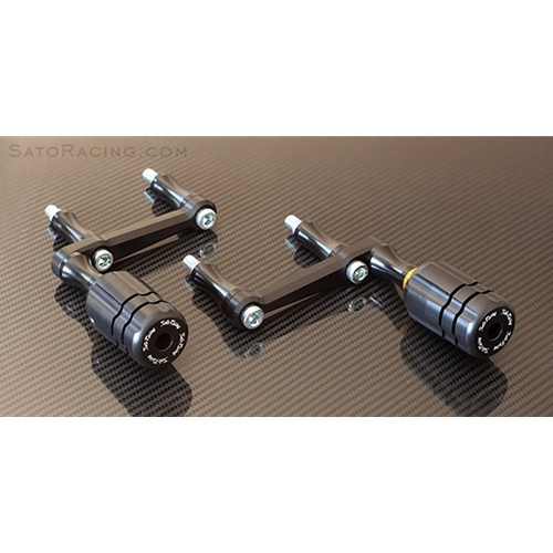 Sato Racing Frame Sliders - #KTM-RC811FS-BK RC8/R 08-12/RC8 11-15 Frame Sliders Black
