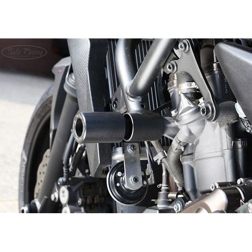 Sato Racing Frame Sliders - #Y-MT07FS-BK FZ07/MT07 14-18 Frame Sliders Black