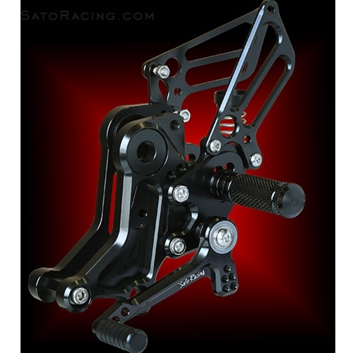 Sato Racing Rear Sets - #D-M1100ERS-SV Monster 1100 11-13 EVO Rear Sets Silver