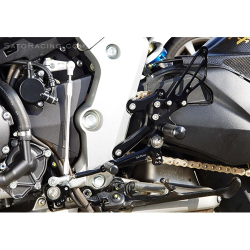 Sato Racing Rear Sets - #H-CB1000RS-BK CB1000R 08-15 Rear Sets Black