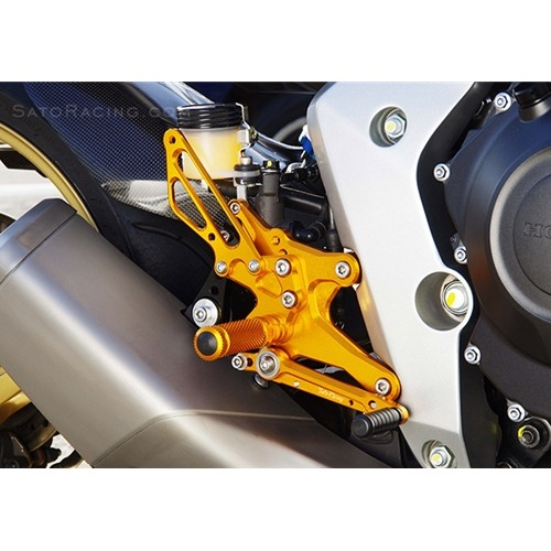Sato Racing Rear Sets - #H-CB1000RS-SV CB1000R 08-16 Rear Sets Silver