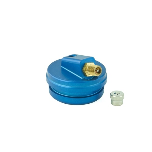 K-Tech Suspension Extended Reservoir Cap - #211-200-140 RCU Res Cap KYB 46x6mm BLUE CR250 KX250 (inc valve)