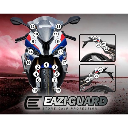 Eazi-Guard Self-Healing Kit - #GUARDBMW008 S1000RR 2019-2020 Paint Protection Kit