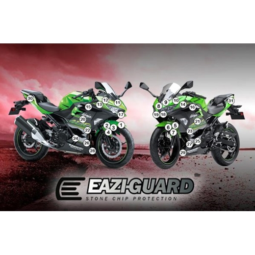 Eazi-Guard - #GUARDKAW017 NINJA 250/400 2018 Paint Chip Protection Kit