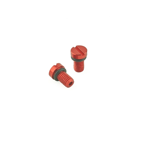 KYB/ Showa  Front Fork Air Bleed Screw (KYB/Showa) Red - Pair