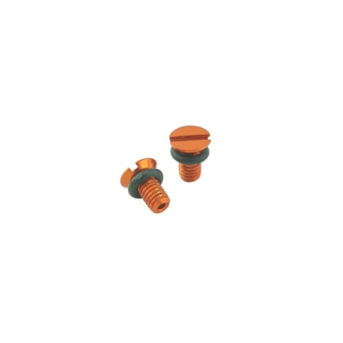 K-Tech Suspension Front Fork Air Bleed Screw - #111-030-030O  (WP) ORANGE - PAIR