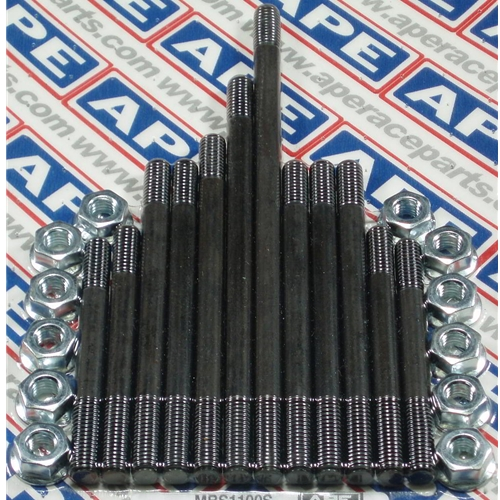 APE Main Bearing Case Studs and Nuts - #1150-026 GS 1100/GS 1150 /Heavy Duty/Heat Treated/Chrome Moly/Rolled Thread