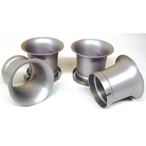 Mikuni Billet Aluminum Velocity Stacks 50mm Tall Fits All RS Flatslide Carburetors Includes Clamps Set Of 4