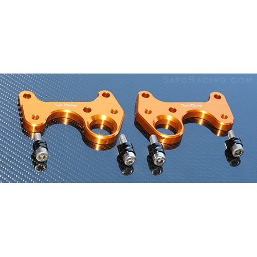 Sato Racing Street Hooks - #H-CBR108HOOKS-GD CBR 1000RR 08-16/Non-ABS Models/Allows Passenger Pegs/Gold Anodized