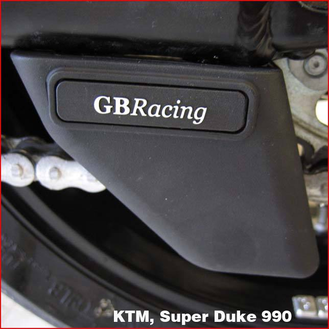 GB Racing Shark Fin Chain Guard - #CGA08-GBR Honda/KTM/Suzuki/Yamaha/Injection Molded Long Fiber Reinforced Nylon/High Impact/Low Wear