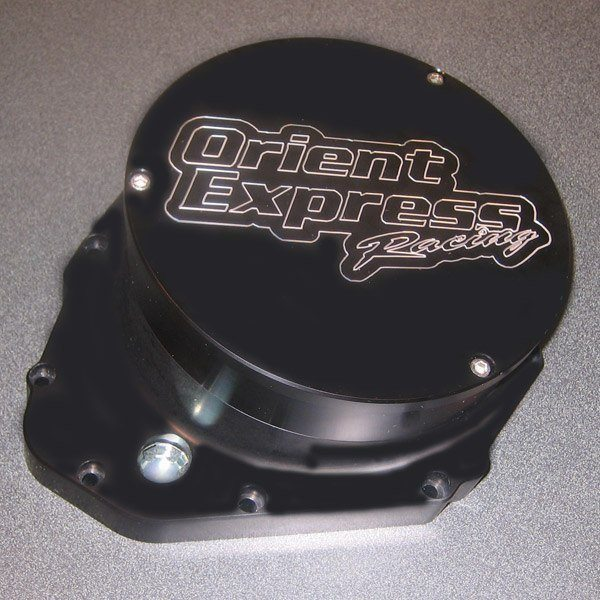 Orient Express Billet Clutch Cover - #GX10-740B GSXR 1000 01-08/CNC Machined Billet Aluminum/Quick Access/40mm Taller Than Stock/Works With Lock Ups Or Sliders/Black Anodized