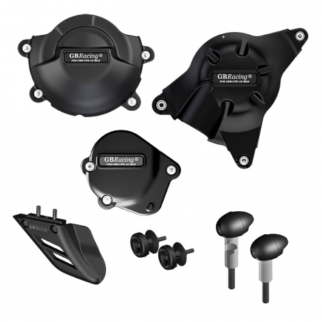 GB Racing Protection Bundle - #CP-R6-2008-CS-GBR YZF 600 R6 06-17/Injection Molded Long Fiber Reinforced Nylon/High Impact/Low Wear