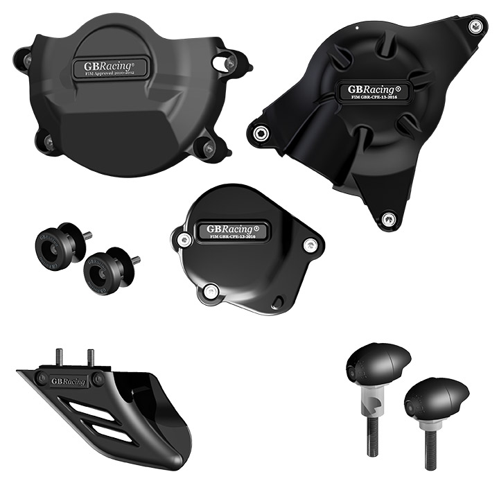 GB Racing Protection Bundle - #CP-R6-2008-CS-K-GBR YZF 600 R6 06-17/For KIT Engine Covers ONLY/Injection Molded Long Fiber Reinforced Nylon/High Impact/Low Wear