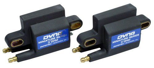 Dynatek Dyna Ignition Coil - #DC1-2 Dyna 2000 Dyna S Ignition Coil/3 Ohm/Dual Output/Black/2 Per Package/Mini Series/HD