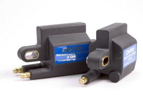 Dynatek Dyna Ignition Coils - #DC3-2 For Dyna 2000 and Dyna S Applications/3 Ohm/Single Outpute/Black/2 Per Package/Mini Series/HD