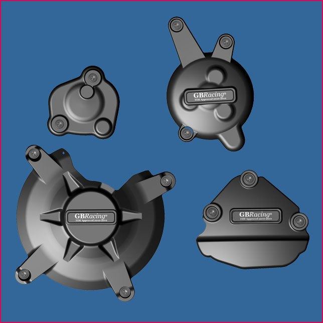 GB Racing Engine Cover Set Yamaha FZ-8 Fazer 2010 2015 FZ-1 Fazer 2009 2015 Four Piece Kit Secondary Engine Covers