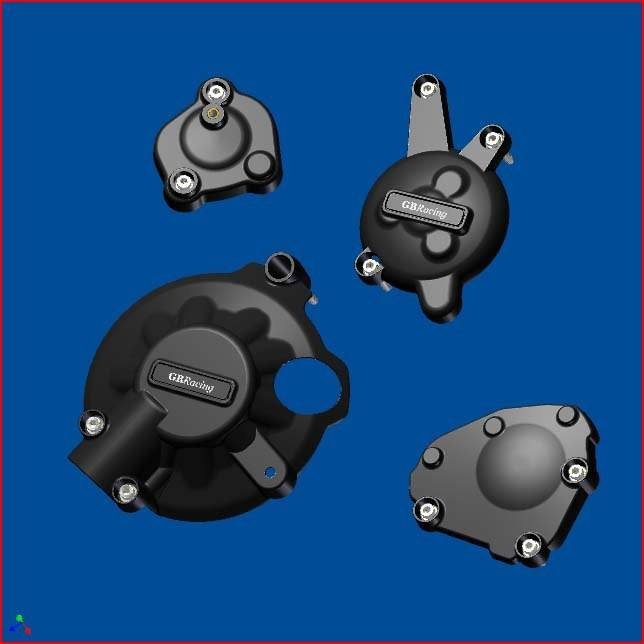 GB Racing Secondary Engine Cover Set - #EC-R1-2007-SET-GBR YZF 1000 R1 07-08/Fits Standard Engine Covers ONLY/Injection Molded Long Fiber Reinforced Nylon/High Impact/Low Wear