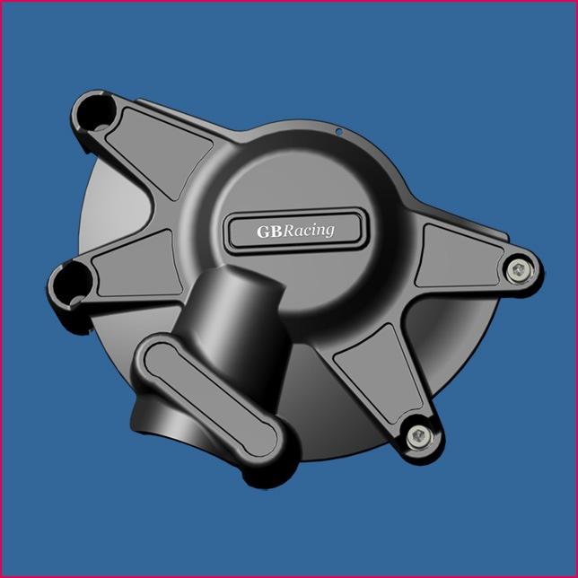 GB Racing Clutch Cover - #EC-R1-2009-2-GBR YZF 1000 R1 09-14/Fits Standard Cover ONLY/Injection Molded Long Fiber Reinforced Nylon/High Impact/Low Wear