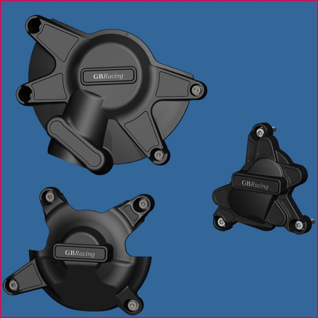 GB Racing Secondary Engine Cover Set - #EC-R1-2009-SET-K-GBR YZF 1000 R1 09-14/Fits KIT Engine Covers ONLY/Injection Molded Long Fiber Reinforced Nylon/High Impact/Low Wear