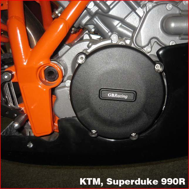 GB Racing Clutch Cover - #EC-SD-2-GBR Superduke 990 05-14/Fits Standard Clutch Cover ONLY/Injection Molded Long Fiber Reinforced Nylon/High Impact/Low Wear