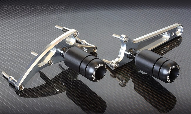 Sato Racing Frame Sliders - #H-CBR516FS-BK CBR500R 16-18 Frame Sliders in Black