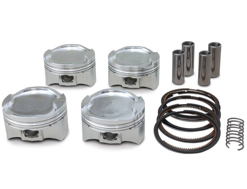 "JE Pistons FSR Forged Piston Kit - #300269 GSX 1300R 08-18/83mm +2mm Bore/9.0:1/1407cc/Tall Deck/Turbo/Requires 0.080"" Spacer"