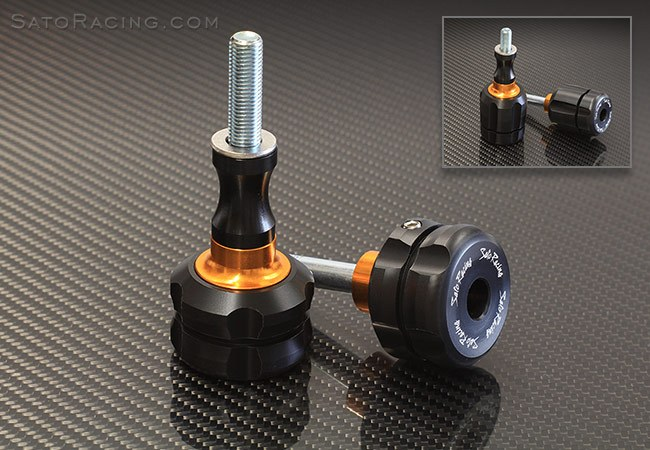Sato Racing Frame Sliders - #K-ZX1016FSS-BK ZX10R 16-18 Frame Sliders (Low Profile/REV-S)