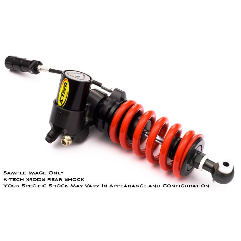 K-Tech Suspension 35DDS Pro Rear Shock Kawasaki ZX6R Ninja 2005 2008 ByPass Valve Fully Adjustable
