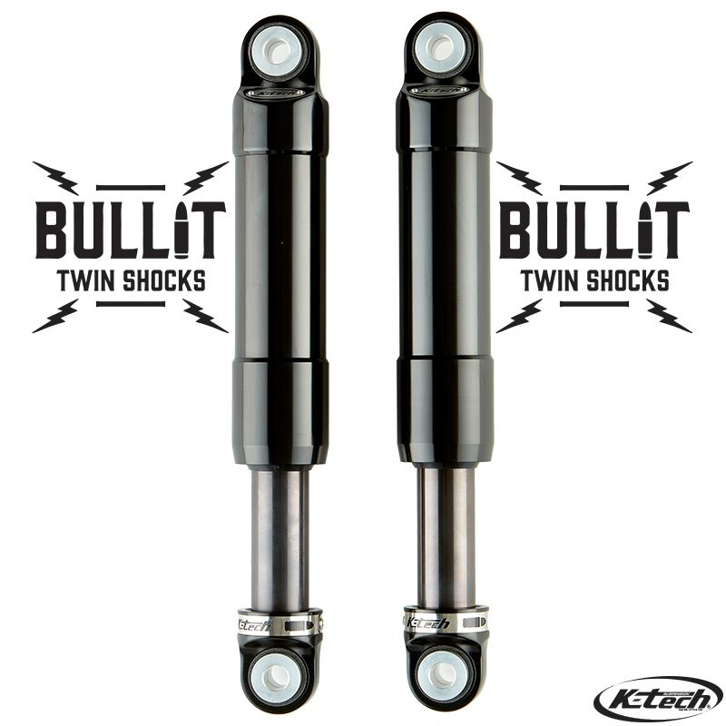 Bullit Rear Shock K-Tech Suspension Indian Scout 2015 Black On Black Nitrogen Pressurized Forged Aluminum