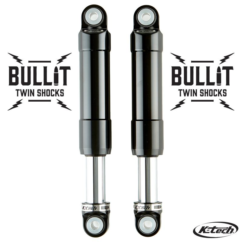 Bullit Rear Shock K-Tech Suspension Indian Scout 2015 Black On Chrome Nitrogen Pressurized Forged Aluminum
