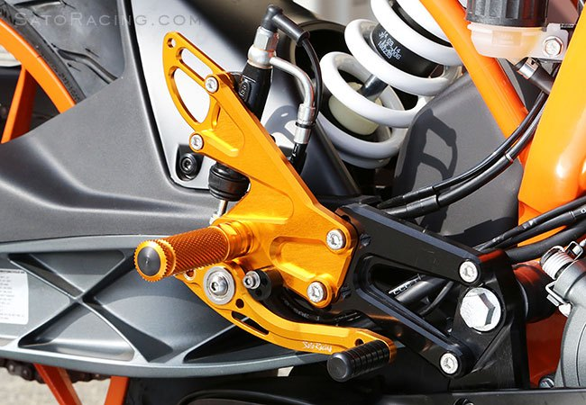 Sato Racing Rear Sets - #KTM-RC390RS-GD RC125/RC390 14-18 Rear Sets Gold