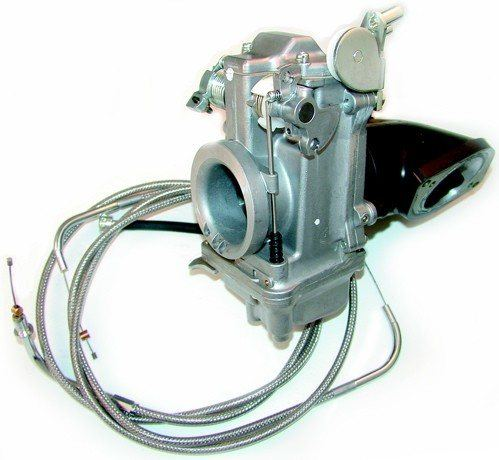 Mikuni Carburetor Kit - Yamaha - #XV16-42 XV 1600 99-03 / XV1700 04-07 Road Star 42mm Flat Slide Kit With Cables And Ported Manifold