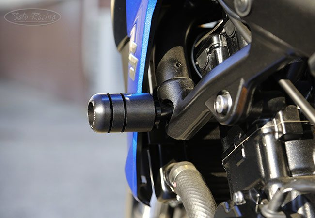 Sato Racing Frame Sliders - #S-S75017FS GSX-S750 17-18 Frame Sliders