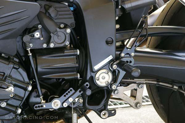 Sato Racing Rear Sets - #BMW-K12RS-BK K 1200R 05-08/6 Positions Including Stock/Black Anodized