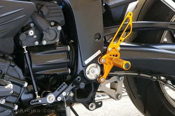 Sato Racing Rear Sets - #BMW-K12RS-GD K 1200R 05-08/6 Positions Including Stock/Gold Anodized