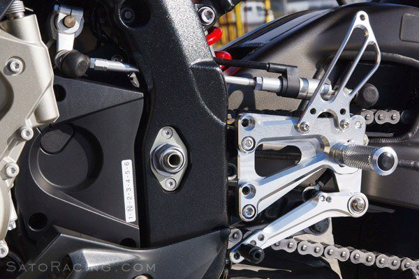 Sato Racing Rear Sets - #BMW-S1RSFA-BK S1000RR 09-14/9 Positions/ABS Models/Black Anodized/Moves Pegs FORWARD & UP