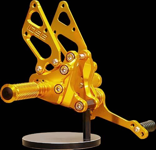 Sato Racing Rear Sets - #D-1098RS1-GD 1098 Superbike 07-09/Type 1 Without Brake Pedal/10 Positions/Gold Anodized
