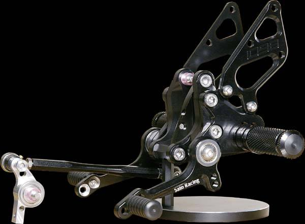 Sato Racing Rear Sets - #D-1098RS2-BK 1098 Superbike 07-09/Type 2 With Brake Pedal/10 Positions/Black Anodized