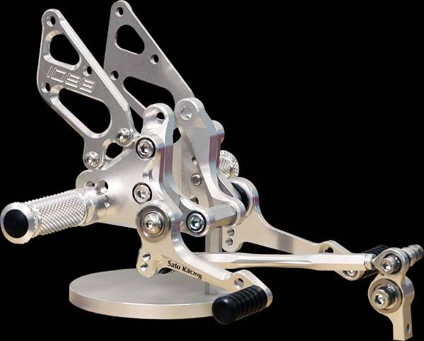 Sato Racing Rear Sets - #D-1098RS2-SV 1098 Superbike 07-09/Type 2 With Brake Pedal/10 Positions/Silver Anodized