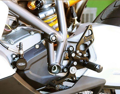 Sato Racing Rear Sets - #D-848RS1-GD 848 Superbike 08-10/Type 1 Kit Without Brake Pedal/10 Positions/Gold Anodized