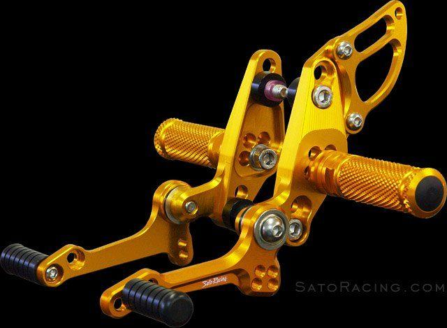 Sato Racing Rear Sets - #D-STRS-BK Streetfighter 1100 09-12/8 Positions/Black Anodized